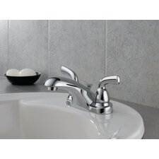 Foundations Centerset Bathroom Faucet with Double Lever Handles