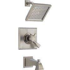 Dryden Pressure Balance Diverter Tub and Shower Faucet with Lever Handles