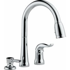 Kate Single Handle Deck Mounted Kitchen Faucet with Soap Dispenser