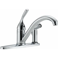 Classic Single Handle Centerset Kitchen Faucet with Side Spray