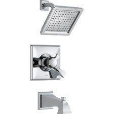 Dryden Pressure Balance Diverter Tub and Shower Faucet with Lever Handles
