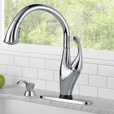 Addison Single Handle Deck Mounted Kitchen Faucet with Soap Dispenser