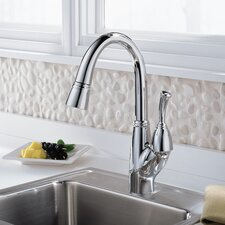 Allora Single Handle Deck Mounted Bar Faucet with Pull Out Spray