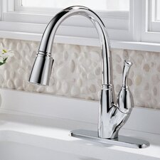 Allora Single Handle Deck Mounted Kitchen Faucet with Pull-Out Spray