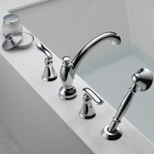 Linden Volume Roman Tub with Hand Shower Faucet Trim