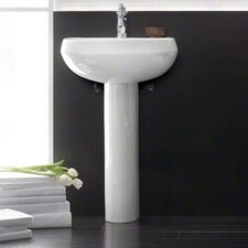 Wellworth Pedestal Bathroom Sink with Single Faucet Hole