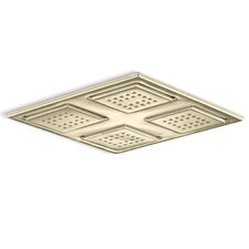 WaterTile 22-Nozzle Overhead Rain Showering Panel