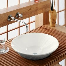 Conical Bell Vessel Above-Counter or Wall-Mount Bathroom Sink