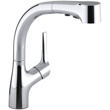 Elate Kitchen Sink Faucet with Pullout Spray Spout and Lever Handle