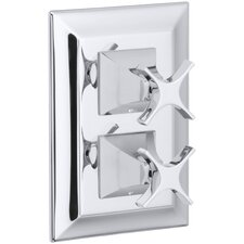 Memoirs Stately Valve Trim with Cross Handles for Stacked Valve, Requires Valve
