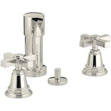 Pinstripe Pure Vertical Spray Bidet Faucet with Cross Handles