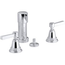 Pinstripe Vertical Spray Bidet Faucet with Lever Handles