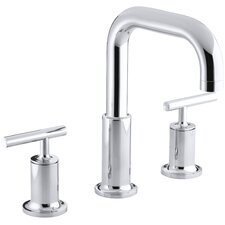 Purist Deck-Mount Bath Faucet Trim for High-Flow Valve with Lever Handles, Valve Not Included