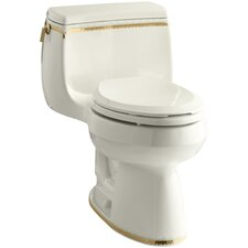 Prairie Flowers 1.28 GPF Comfort Height Elongated Toilet 1 Piece Product Photo