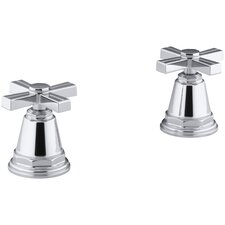Pinstripe Deck-Mount High-Flow Bath Valve Trim with Cross Handles, Handles Only, Valve Not Included