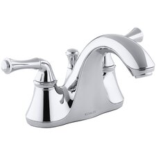 Forté Centerset Bathroom Sink Faucet with Traditional Lever Handles