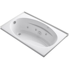 """60"""" x 36"""" Alcove Whirlpool with Flange and Left-Hand Drain"""