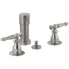 Antique Vertical Spray Bidet Faucet with Lever Handles