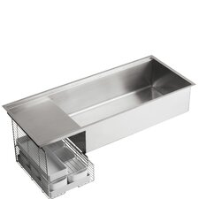 "Stages 45"" x 18-1/2"" x 9-13/16"" Undermount Single-Bowl with Wet Surface Area Kitchen Sink"
