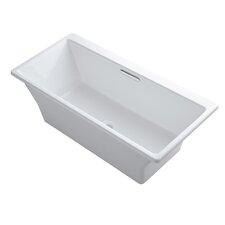 Rêve Freestanding Bath with Brilliant Blanc Base without Jet Trim
