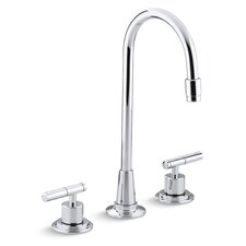 Taboret Three-Hole Bar Sink Faucet, Requires Handles