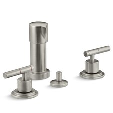 Taboret Vertical Spray Bidet Faucet with Lever Handles