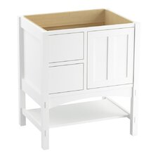 """Marabou 30"""" Vanity Base with 1 Door and 2 Drawers on Left"""