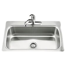 "Verse 33"" x 22"" x 8-1/4"" Top-Mount Single-Bowl Kitchen Sink with Single Faucet Hole"