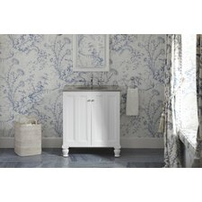 "Damask 30"" Vanity with Furniture Legs and 2 Doors"