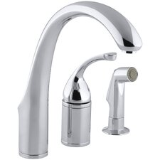 """Forté 3-Hole Remote Valve Kitchen Sink Faucet with 9"""" Spout with Matching Finish Sidespray"""