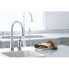 "Simplice Two-Hole Kitchen Sink Faucet with 16-1/8"" Pull-Down Swing Spout, Docknetik Magnetic Docking System, and A 3-Function Sprayhead Featuring The New Sweep Spray"