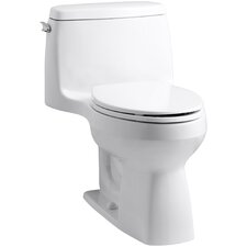 Santa Rosa Comfort Height One-Piece Compact Elongated 1.6 GPF Toilet with Aquapiston Flush Technology and Left-Hand Trip Lever
