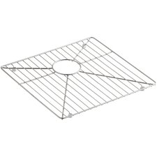 "Vault /Strive Stainless Steel Sink Rack for Left Basin, 16-15/16"" x 15-15/16"""