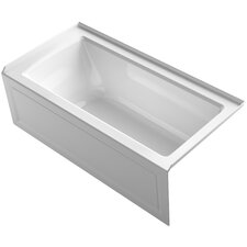 "Archer 60"" x 30"" Alcove Bathtub with Integral Apron and Right-Hand Drain"