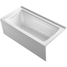 Archer Alcove Bath with Bask™ Heated Surface, Integral Apron, Tile Flange and Left-Hand Drain