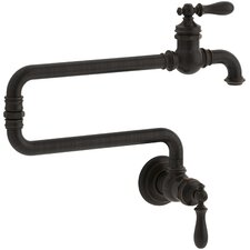 "Artifacts(R) Single-Hole Wall-Mount Pot Filler Kitchen Sink Faucet with 22"" Extended Spout"
