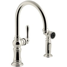 Artifacts 2-Hole Kitchen Sink Faucet with Swing Spout