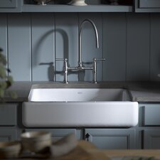 "Whitehaven Self-Trimming 29-1/2"" x 21-9/16"" x 9-5/8"" Undermount Single-Bowl Kitchen Sink with Short Apron"