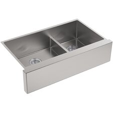 """Strive 35.5"""" x 21.25 Self-Trimming SmartDivide Undermount Double-Bowl Kitchen Sink"""