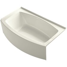 "Expanse Curved 60"" x 30-36"" Soaking Bathtub"