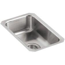 "Undertone 10-3/4"" x 17-1/2"" x 5-5/8"" Small Squared Under-Mount Single-Bowl Kitchen Sink"