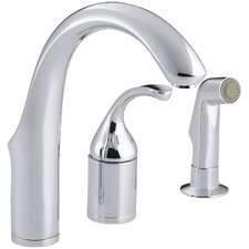 Forté Three-Hole Remote Valve Kitchen Sink Faucet with Sidespray