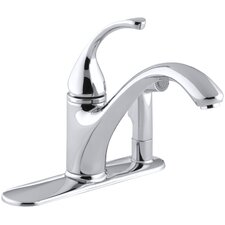 """Forté 3-Hole Kitchen Sink Faucet with 9-1/16"""" Spout with Matching Finish Sidespray In Escutcheon"""