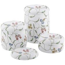 English Trellis Design On White Countertop Accessories