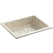 "Mille Fleurs Design On Kathryn Undermount Bathroom Sink, 17"" x 13"""