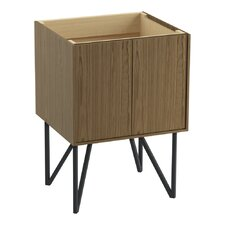 """Jute 24"""" Vanity Base with Furniture Legs and 2 Doors"""