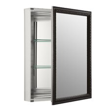 "20"" x 26"" Wall Mount Mirrored Medicine Cabinet with Mirrored Door"