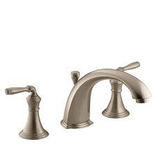 "Devonshire Deck-/Rim-Mount Bath Faucet Trim for High-Flow Valve with 8-15/16"" Diverter Spout and Lever Handles, Valve Not Included"