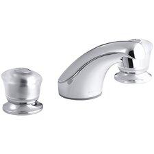 Coralais Widespread Bathroom Sink Faucet with Sculptured Acrylic Handles