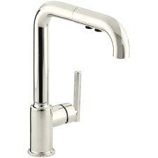 "Purist Single-Hole Kitchen Sink Faucet with 8"" Pullout Spout"